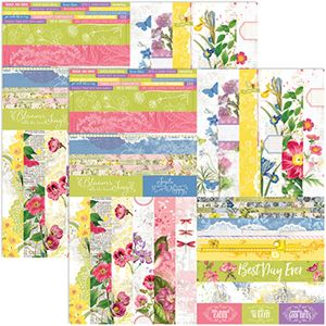 """Picture of Buy one, get one 75% off sale, Floral Flourish by Katie Pertiet 2"""" Border Strips - Set 12"""