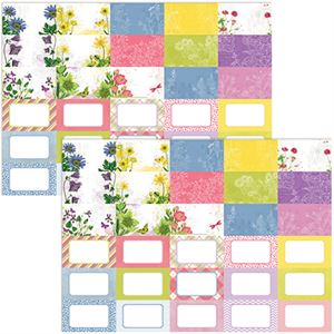Picture of Buy one, get one 75% off sale, Pocket Floral Flourish Journal Cards by Katie Pertiet- Set 30